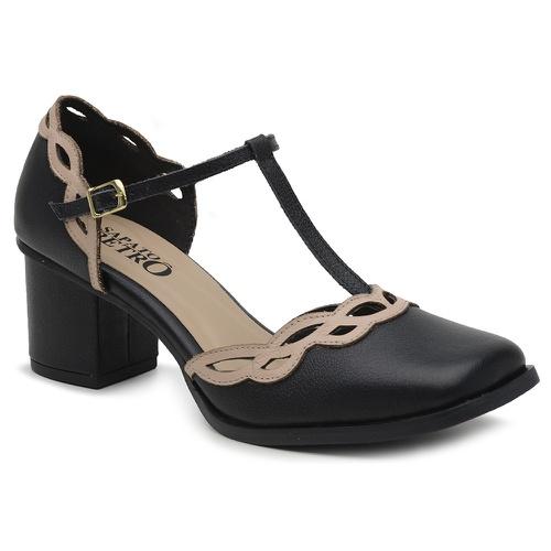 Sapato Boneca Preto - Rainha Antonieta - 400-30 - Sapato RetrÔ