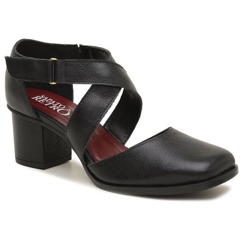 Sapato Boneca Preto - Milão - 400-03 - Sapato RetrÔ