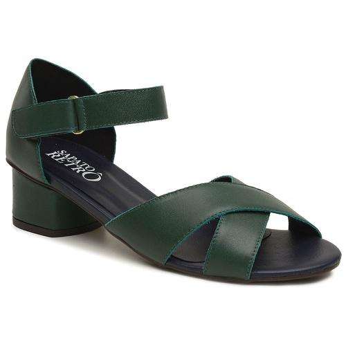 Sandalia Retrô Verde Cacto - Firenze - 600-25 - Sapato RetrÔ