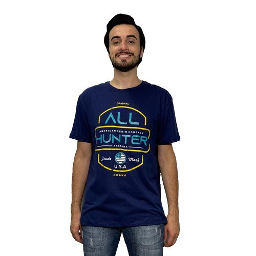 Camiseta Masculina 1302 All Hunter Azul
