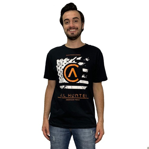 Camiseta Masculina 1301 All Hunter Preto
