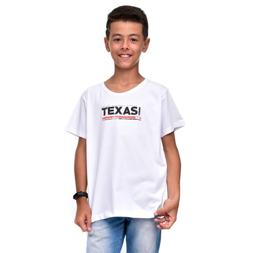 Camiseta infantil Texas Farm CM139 Branco