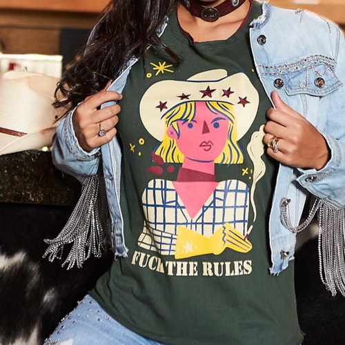 T-shirt Feminina Foal Western Fuck The Rules