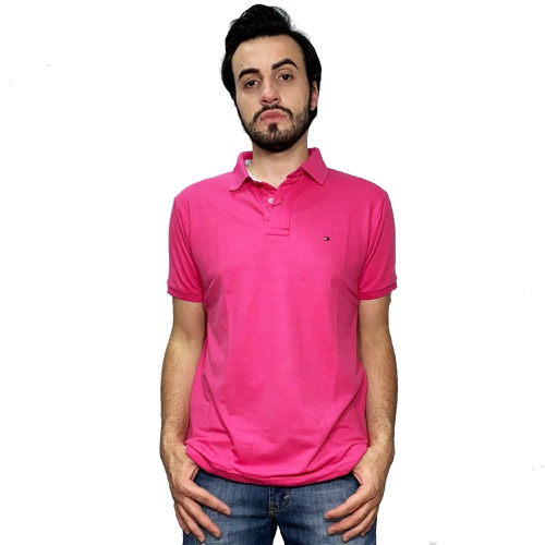 Camisa Polo Masculina Tommy Hilfiger Pink