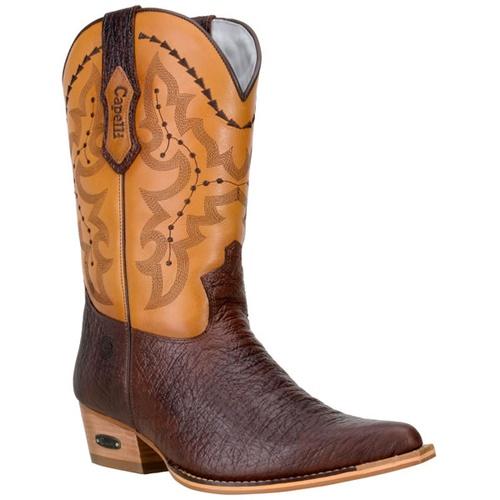 Bota Texana Western De Bico Fino Masculina em Cour - TEXASKING
