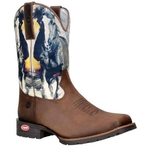 Bota Texana Masculina Com Estampa De Cavalo - TEXASKING