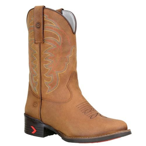 Bota Texana Masculina Bico Redondo em Couro cor Ca... - TEXASKING