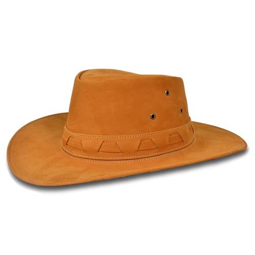 Chapéu Australiano Couro Legitimo Camel - TEXASKING