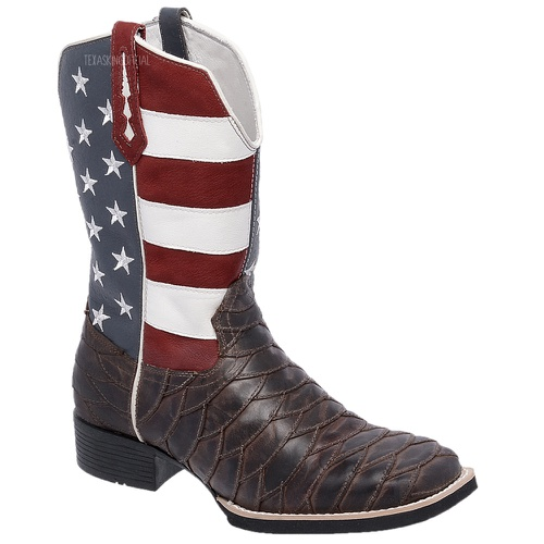 Bota Texana Masculina Estados Unidos Escamada em C... - TEXASKING