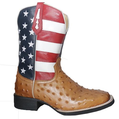 Bota Texana Masculina Estados Unidos Réplica de Av... - TEXASKING