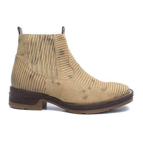 Botina Masculina Bico Quadrado Lezar cor Taupe Vimar Boots