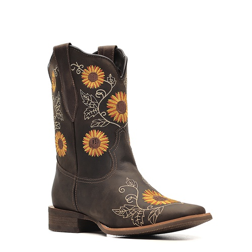 Bota Texana Feminina Dallas Brown Girassol Vimar Boots