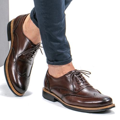 Sapato Casual Masculino Oxford Brogue Mood Transit... - Faway - Handmade Shoes