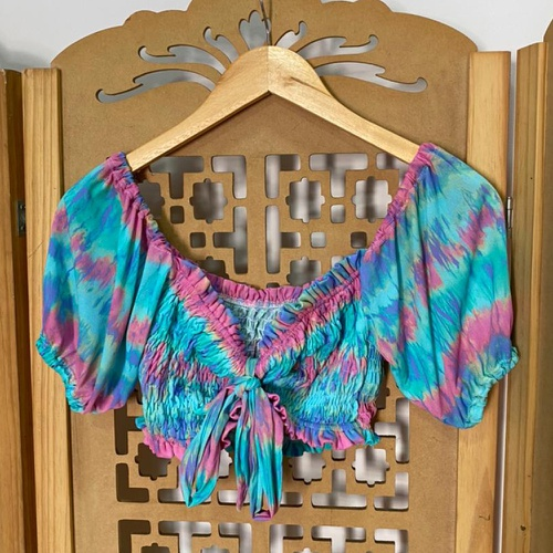 Cropped Bia Tie Dye Vibes - Via Sol Brazil