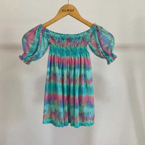 Vestido Infantil Lastex Tie Dye Vibes - Via Sol Brazil