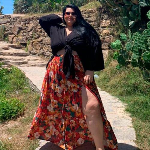 Kimono Liz Preto e Saia Maya Madri