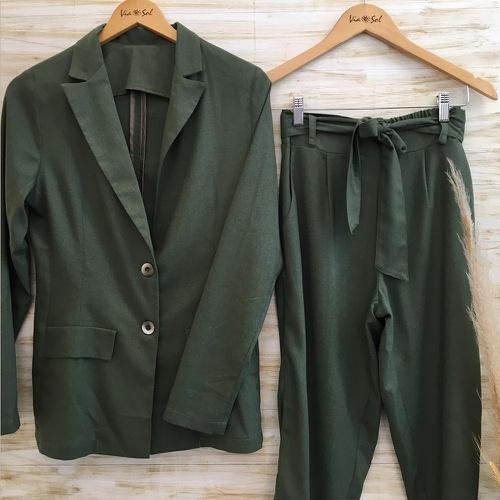 Blazer e Calça Ana Verde Militar