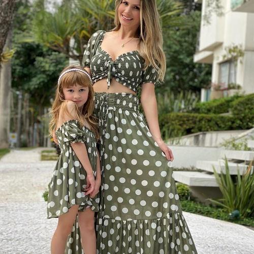 Look Mãe & Filha Poá Militar