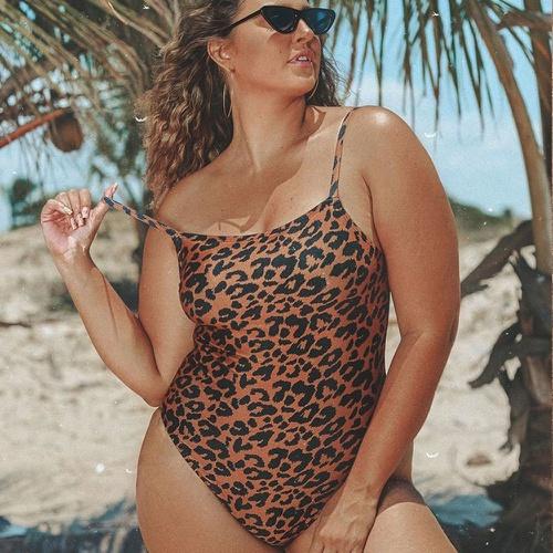 Body Clássico Plus Size Onça - Via Sol Brazil