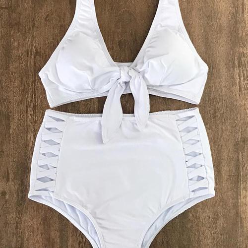 Biquíni Retrô Plus Size Branco