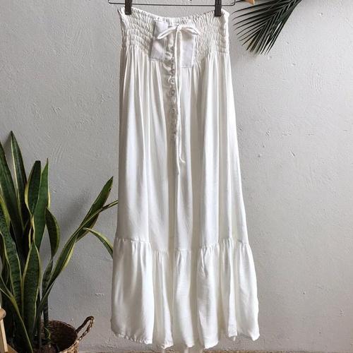 Saia Maya Plus Size Off White - Via Sol Brazil