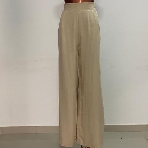 Calça Pantalona Eva Off White - Via Sol Brazil