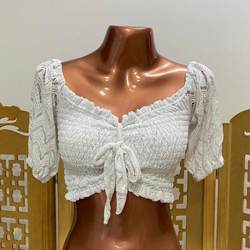 Cropped Bia Boho Plus Size Branco - Via Sol Brazil