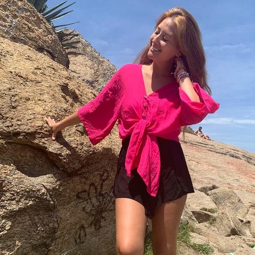 Kimono Liz Pink - Via Sol Brazil
