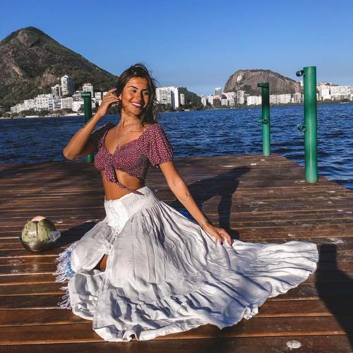 Saia Maya Off White - Via Sol Brazil