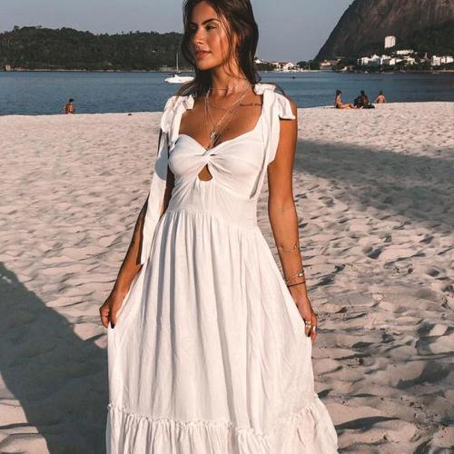 Vestido Maldivas Off White - Via Sol Brazil