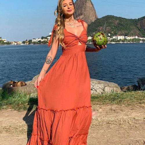 Vestido Maldivas Terracota - Via Sol Brazil