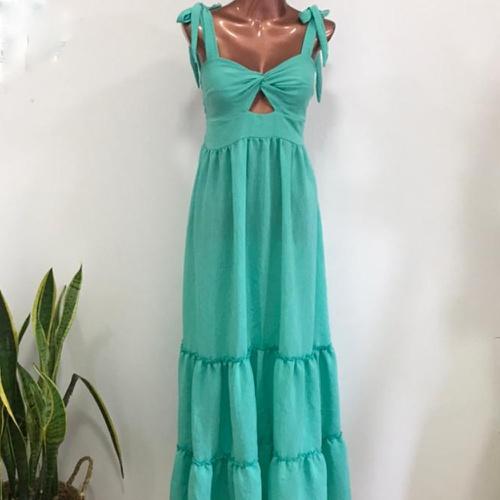 Vestido Maldivas Turquesa - Via Sol Brazil