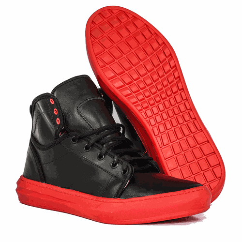 Tênis Cano Alto Bandless Red - Less03 - BANDSHOES