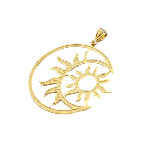 Pingente Feminino Sol e Lua em Ouro 18k - NORTHOFF - Sonhos em Ouro 18k!