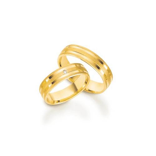 Par de Alianças de Casamento Lyon em Ouro 18k Com ... - NORTHOFF - Sonhos em Ouro 18k!