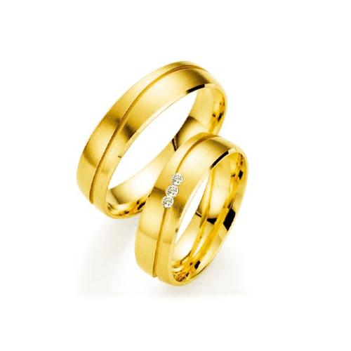 Par de Alianças de Casamento Nápoles em Ouro 18k C... - NORTHOFF - Sonhos em Ouro 18k!