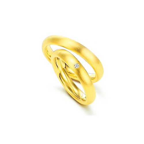 Par de Alianças de Casamento Palermo em Ouro 18k C... - NORTHOFF - Sonhos em Ouro 18k!