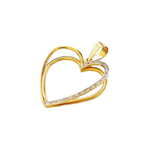 Pingente Feminino Coração em Ouro 18k E Diamantes - NORTHOFF - Sonhos em Ouro 18k!