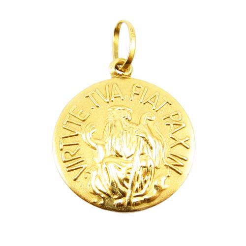 Pingente São Bento Tipo G em Ouro 18k - NORTHOFF - Sonhos em Ouro 18k!