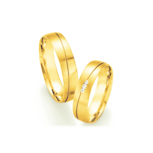 Par de Alianças de Casamento Roma em Ouro 18k com ... - NORTHOFF - Sonhos em Ouro 18k!