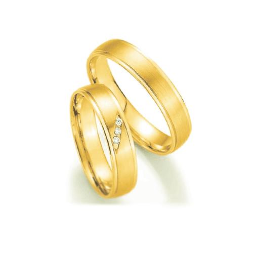 Par de Alianças de Casamento Bucareste em Ouro 18k... - NORTHOFF - Sonhos em Ouro 18k!