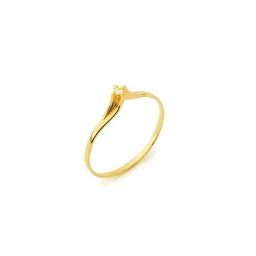 Anel Solitário Paris em Ouro 18k Com Diamante - NORTHOFF - Sonhos em Ouro 18k!