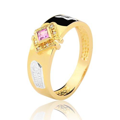 Anel de Formatura em Ouro 18k/750 com Zirconia ANFO93