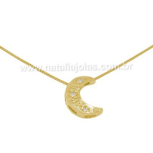 Corrente com Pingente e diamantes em Ouro 18k/750 CPO38
