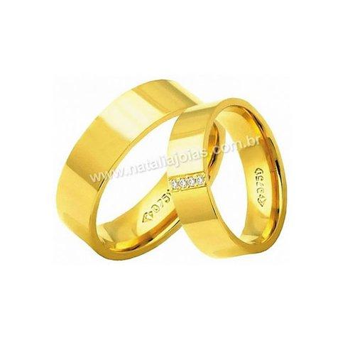 Alianças de Ouro Anatomica com Diamantes 18k/750 AE178