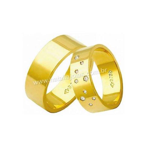 Alianças de Ouro 18k/750 AE183