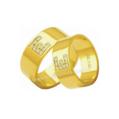 Alianças de Ouro 18k/750 AE173