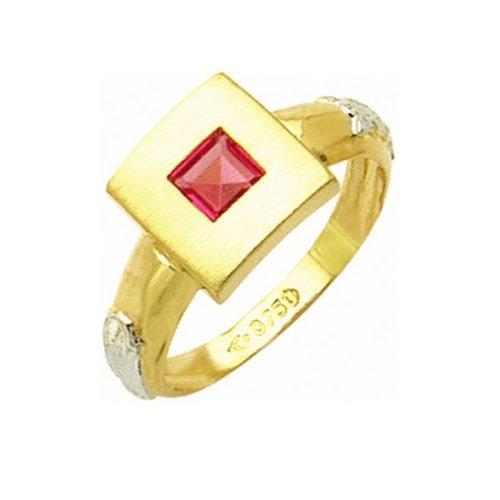 Anel de Formatura em Ouro 18k/750 com Zirconia ANFO30