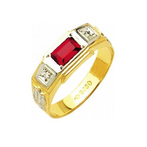 Anel de Formatura em Ouro 18k/750 com Diamante ANF22
