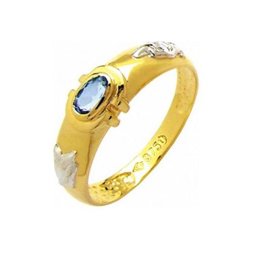 Anel de Formatura em Ouro 18k/750 com Zirconia ANFO44
